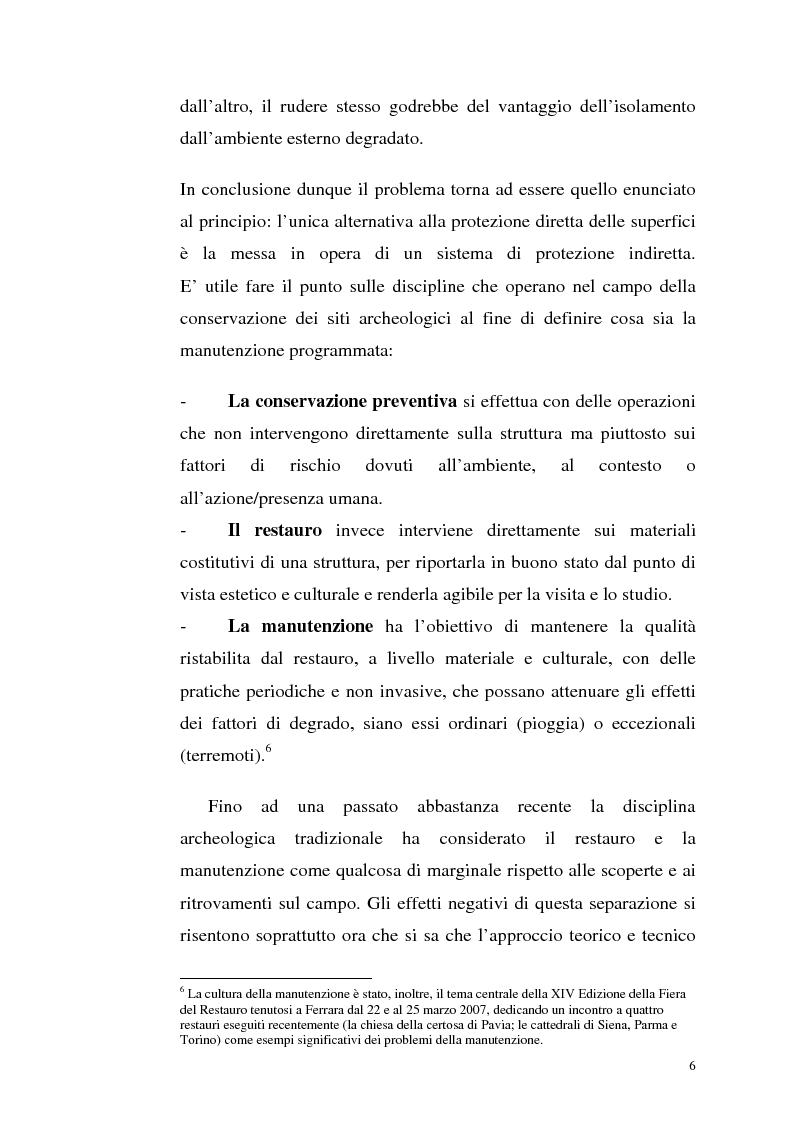 Anteprima della tesi: La manutenzione programmata sul sito archeologico di San Vincenzo al Volturno: Analisi e indagini preliminari sulla cappella di Santa Restituta, Pagina 5