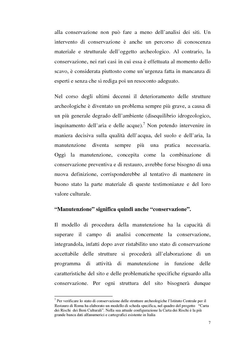 Anteprima della tesi: La manutenzione programmata sul sito archeologico di San Vincenzo al Volturno: Analisi e indagini preliminari sulla cappella di Santa Restituta, Pagina 6