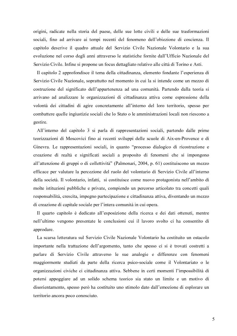 Anteprima della tesi: Partecipazione e cittadinanza attiva. Il punto di vista dei volontari di Servizio Civile Nazionale. Una ricerca empirica., Pagina 2