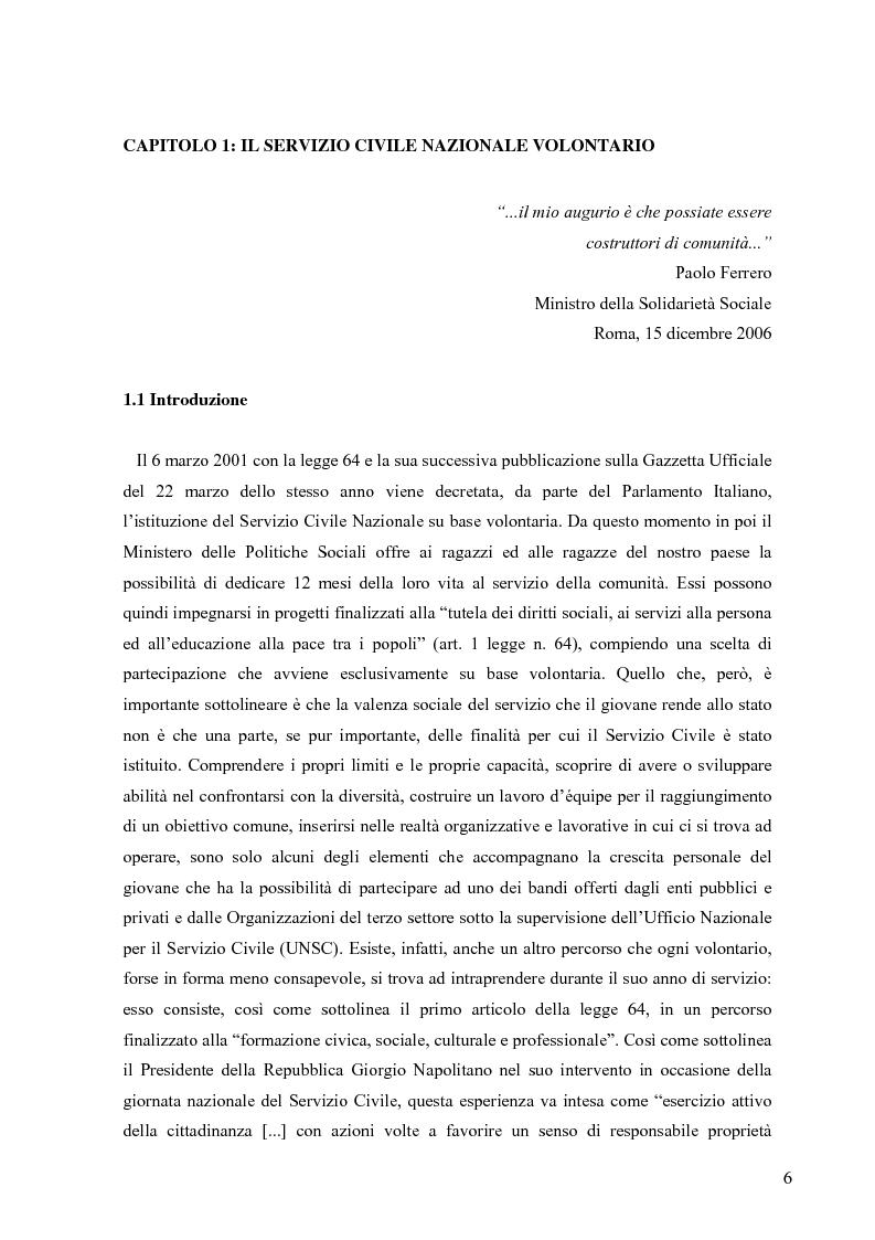 Anteprima della tesi: Partecipazione e cittadinanza attiva. Il punto di vista dei volontari di Servizio Civile Nazionale. Una ricerca empirica., Pagina 3