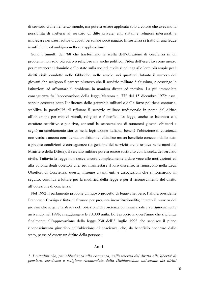 Anteprima della tesi: Partecipazione e cittadinanza attiva. Il punto di vista dei volontari di Servizio Civile Nazionale. Una ricerca empirica., Pagina 7
