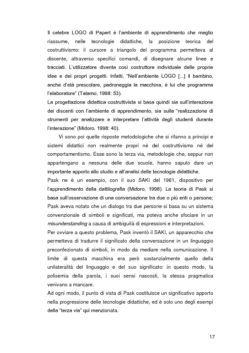 Anteprima della tesi: Insegnare l'italiano L2 a distanza: esperienze e progetti, Pagina 10