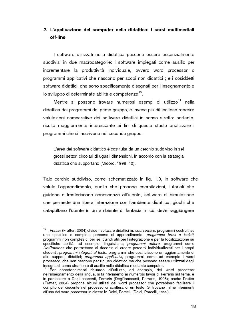 Anteprima della tesi: Insegnare l'italiano L2 a distanza: esperienze e progetti, Pagina 11