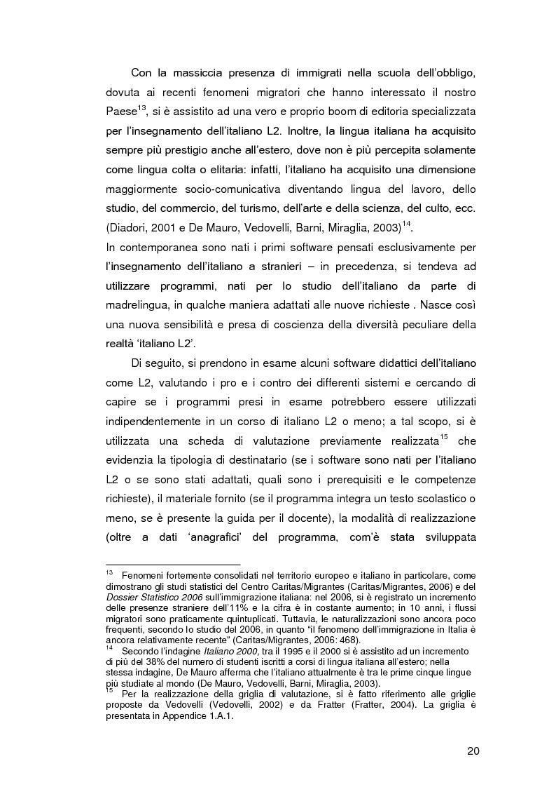 Anteprima della tesi: Insegnare l'italiano L2 a distanza: esperienze e progetti, Pagina 13