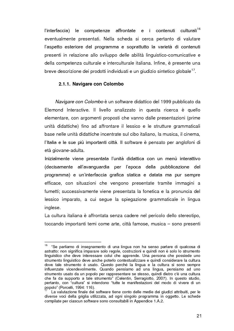 Anteprima della tesi: Insegnare l'italiano L2 a distanza: esperienze e progetti, Pagina 14