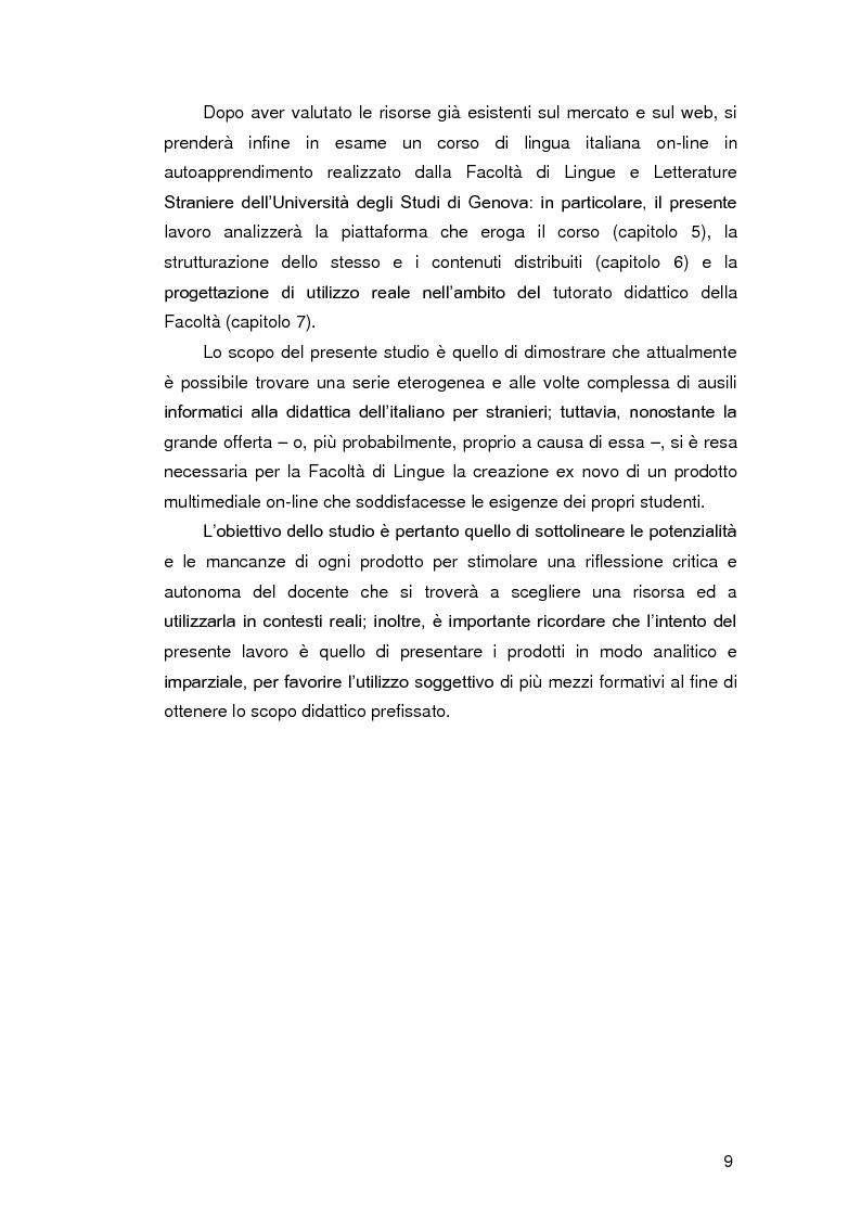 Anteprima della tesi: Insegnare l'italiano L2 a distanza: esperienze e progetti, Pagina 2