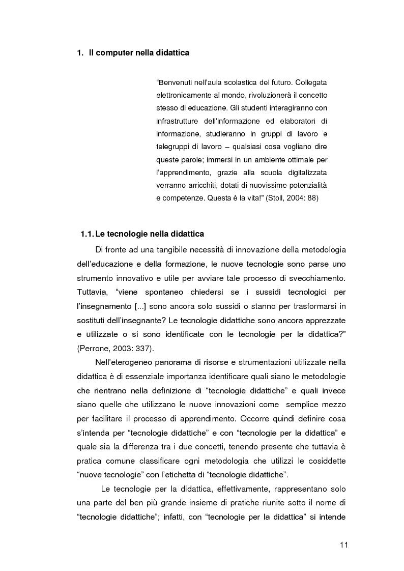 Anteprima della tesi: Insegnare l'italiano L2 a distanza: esperienze e progetti, Pagina 4