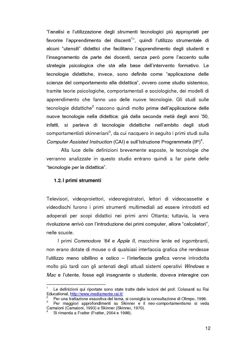 Anteprima della tesi: Insegnare l'italiano L2 a distanza: esperienze e progetti, Pagina 5