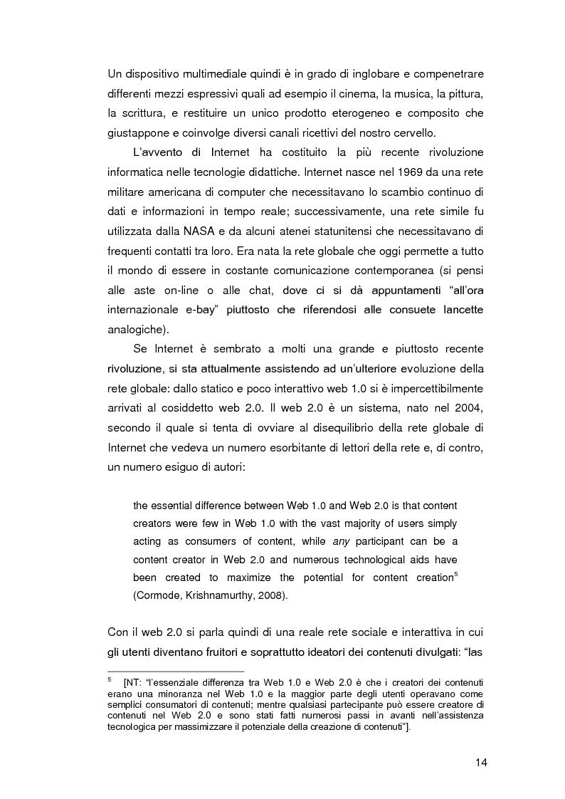 Anteprima della tesi: Insegnare l'italiano L2 a distanza: esperienze e progetti, Pagina 7