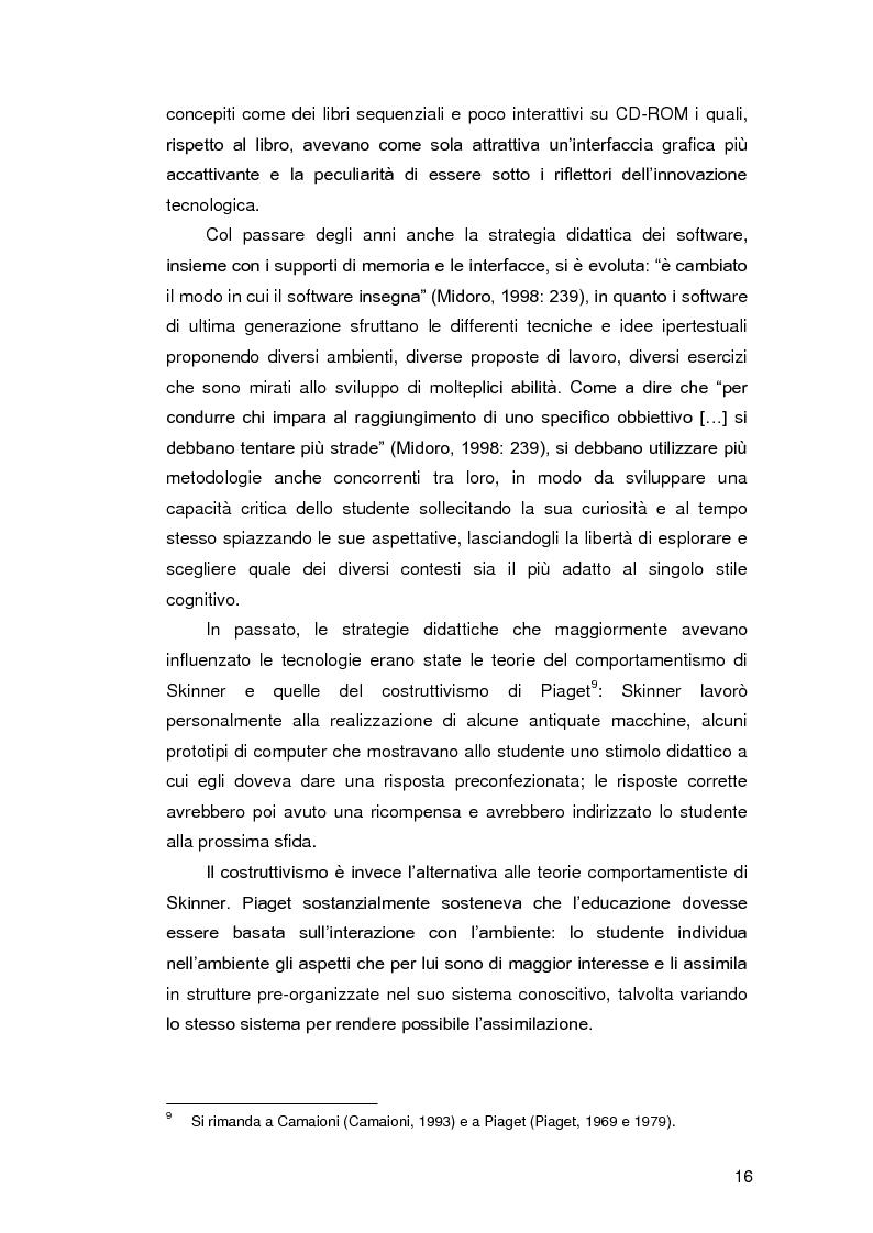 Anteprima della tesi: Insegnare l'italiano L2 a distanza: esperienze e progetti, Pagina 9