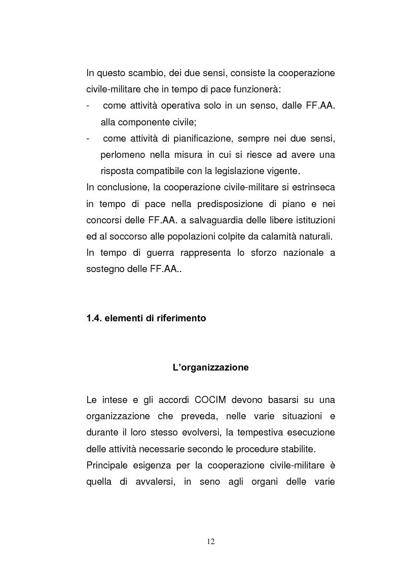 Anteprima della tesi: Cooperazione civile militare nelle operazioni di supporto alla pace, Pagina 10