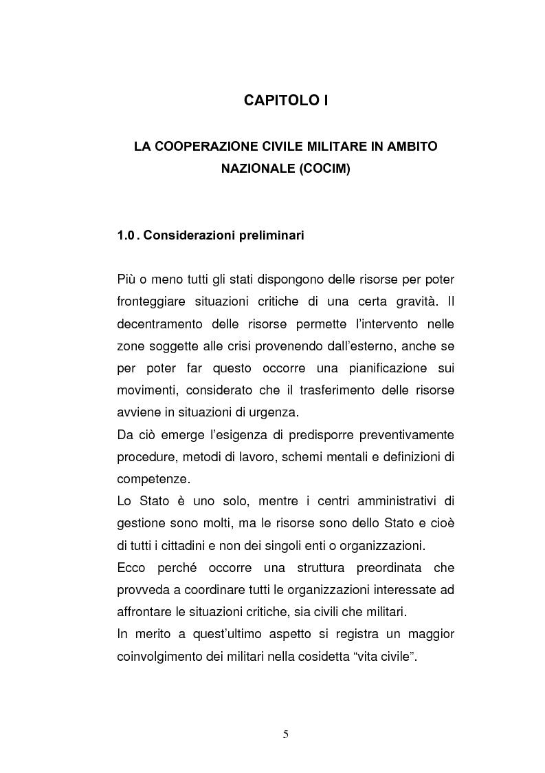 Anteprima della tesi: Cooperazione civile militare nelle operazioni di supporto alla pace, Pagina 3