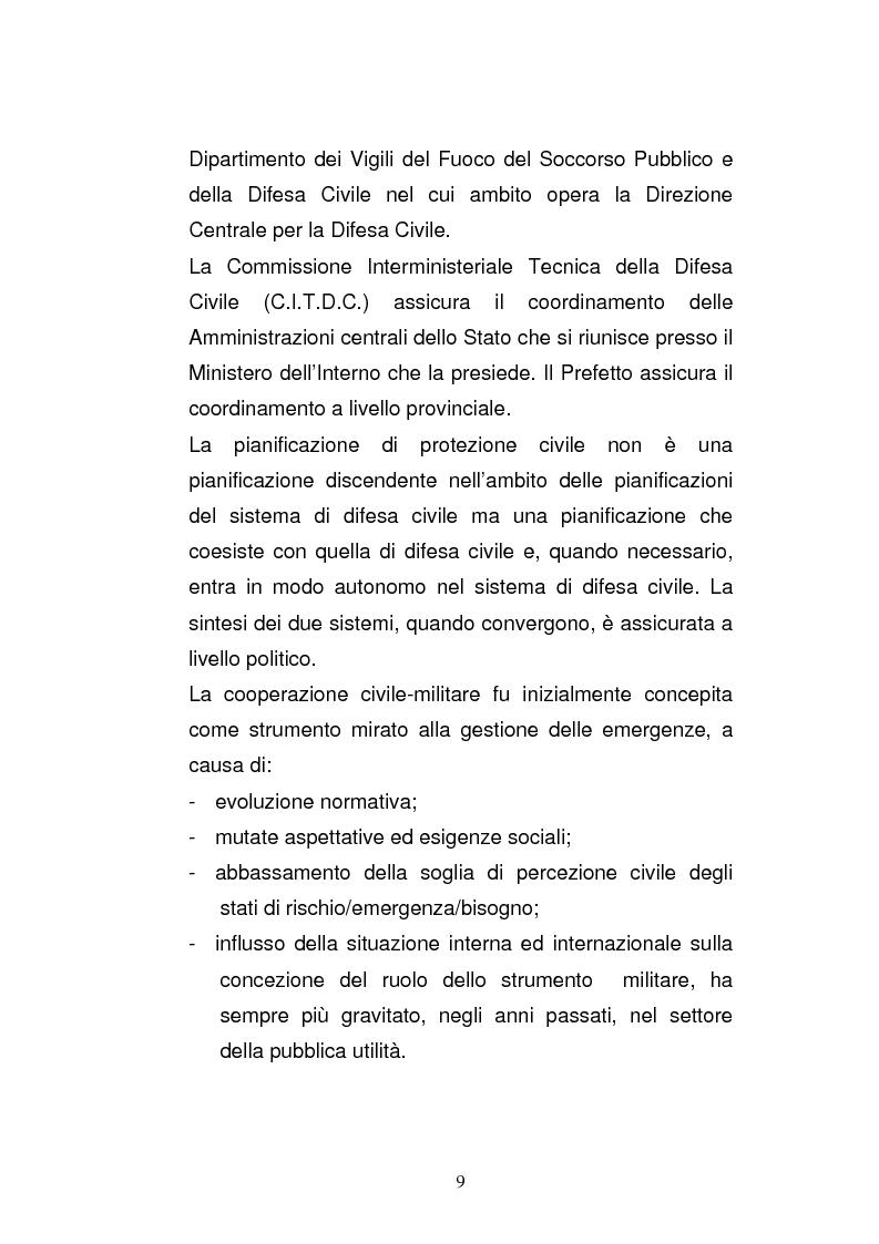 Anteprima della tesi: Cooperazione civile militare nelle operazioni di supporto alla pace, Pagina 7