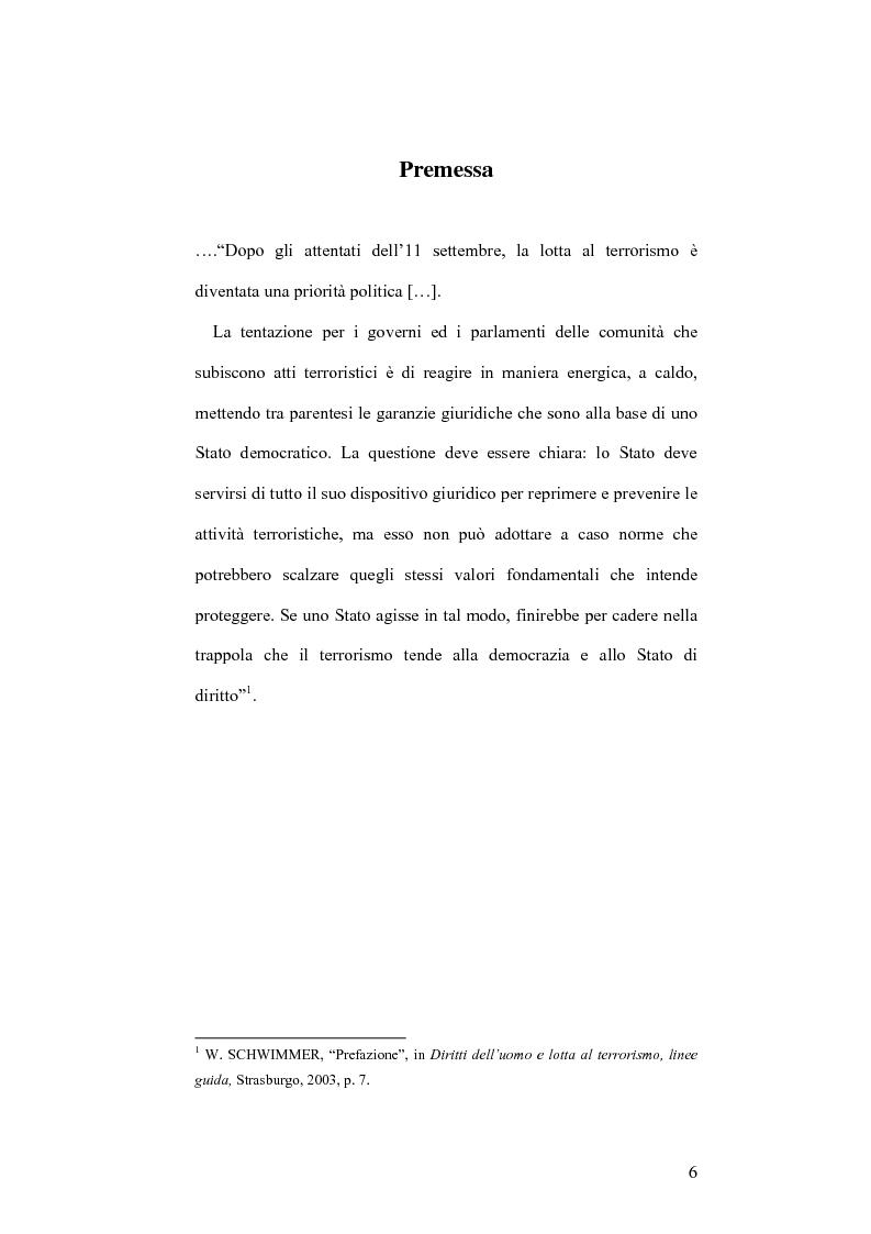 Anteprima della tesi: L'applicazione del diritto internazionale umanitario alle organizzazioni terroristiche, Pagina 1