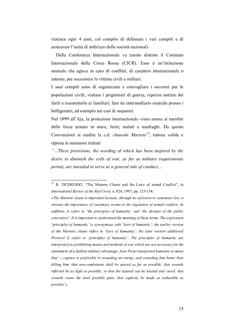 Anteprima della tesi: L'applicazione del diritto internazionale umanitario alle organizzazioni terroristiche, Pagina 10