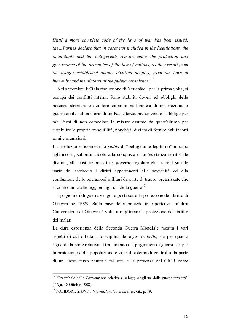 Anteprima della tesi: L'applicazione del diritto internazionale umanitario alle organizzazioni terroristiche, Pagina 11