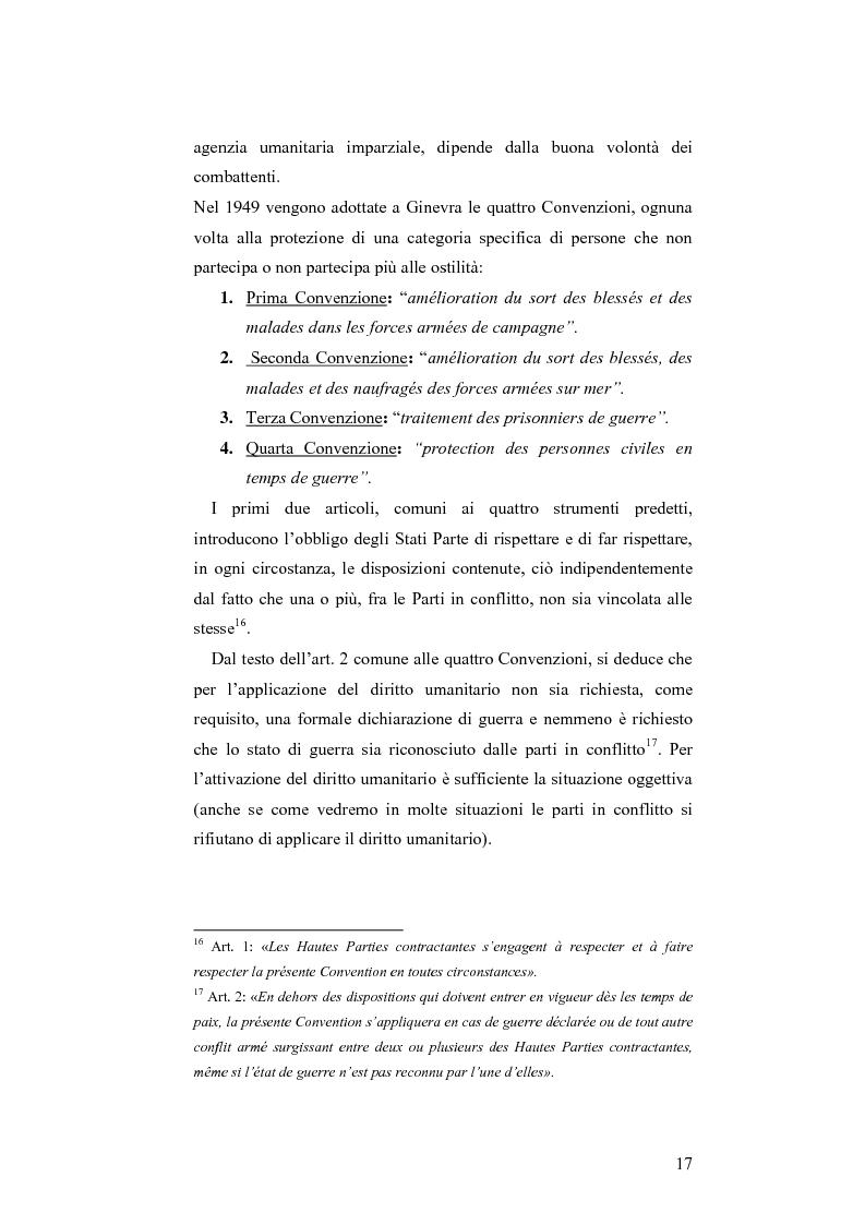 Anteprima della tesi: L'applicazione del diritto internazionale umanitario alle organizzazioni terroristiche, Pagina 12