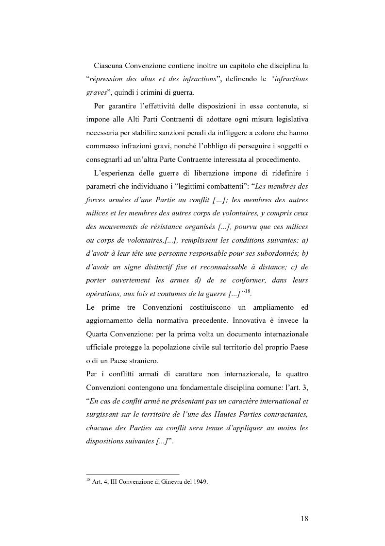 Anteprima della tesi: L'applicazione del diritto internazionale umanitario alle organizzazioni terroristiche, Pagina 13