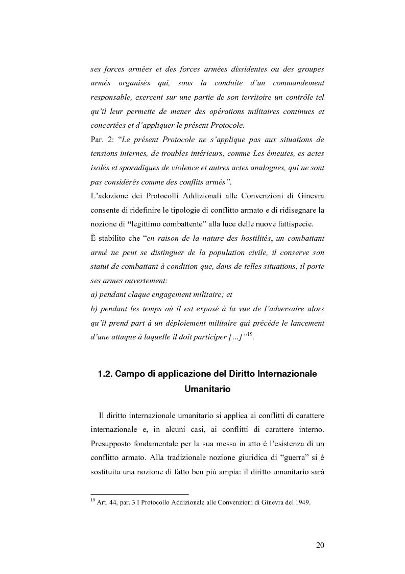 Anteprima della tesi: L'applicazione del diritto internazionale umanitario alle organizzazioni terroristiche, Pagina 15