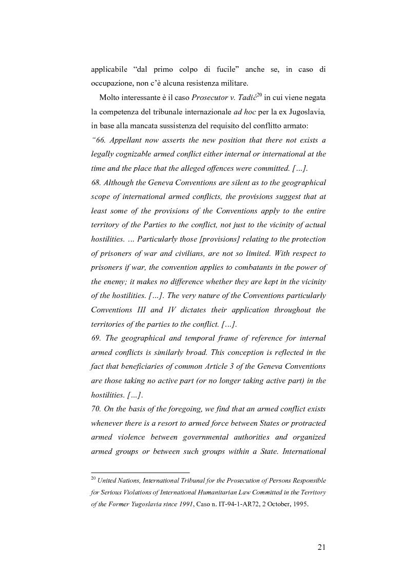 Anteprima della tesi: L'applicazione del diritto internazionale umanitario alle organizzazioni terroristiche, Pagina 16