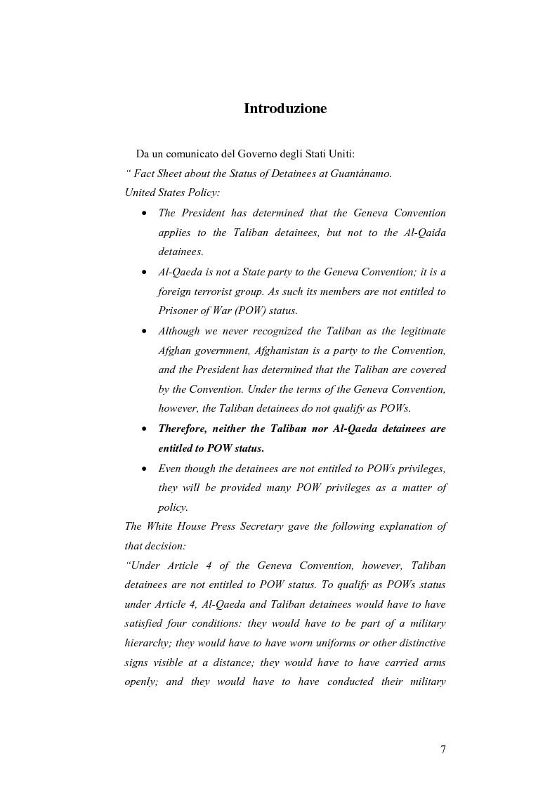 Anteprima della tesi: L'applicazione del diritto internazionale umanitario alle organizzazioni terroristiche, Pagina 2