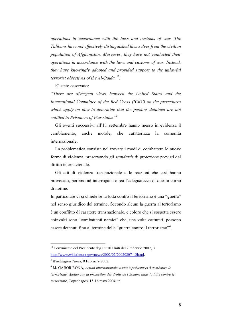 Anteprima della tesi: L'applicazione del diritto internazionale umanitario alle organizzazioni terroristiche, Pagina 3