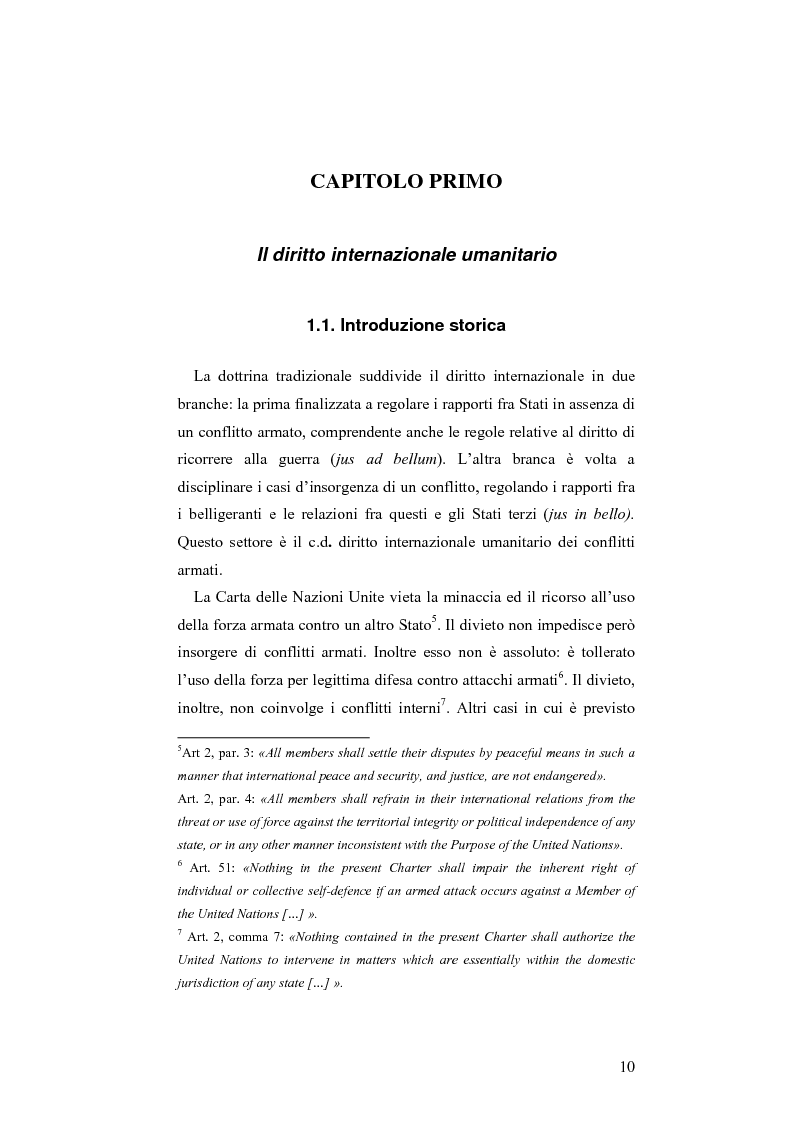 Anteprima della tesi: L'applicazione del diritto internazionale umanitario alle organizzazioni terroristiche, Pagina 5