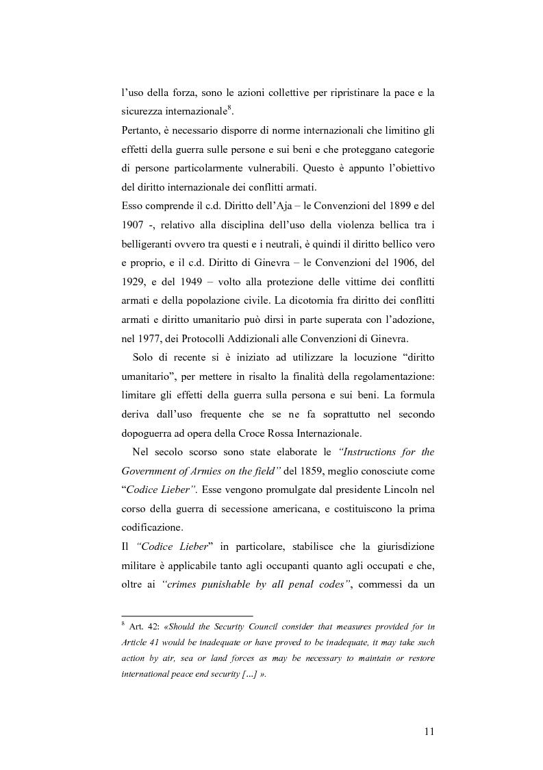 Anteprima della tesi: L'applicazione del diritto internazionale umanitario alle organizzazioni terroristiche, Pagina 6