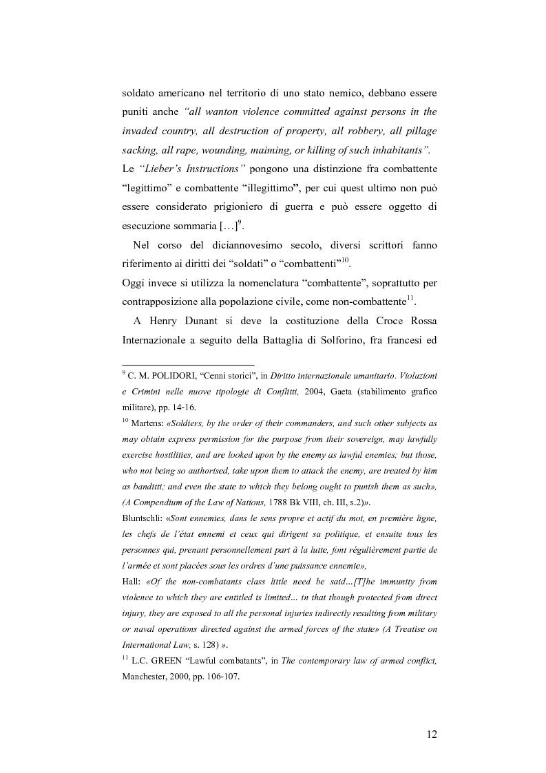 Anteprima della tesi: L'applicazione del diritto internazionale umanitario alle organizzazioni terroristiche, Pagina 7