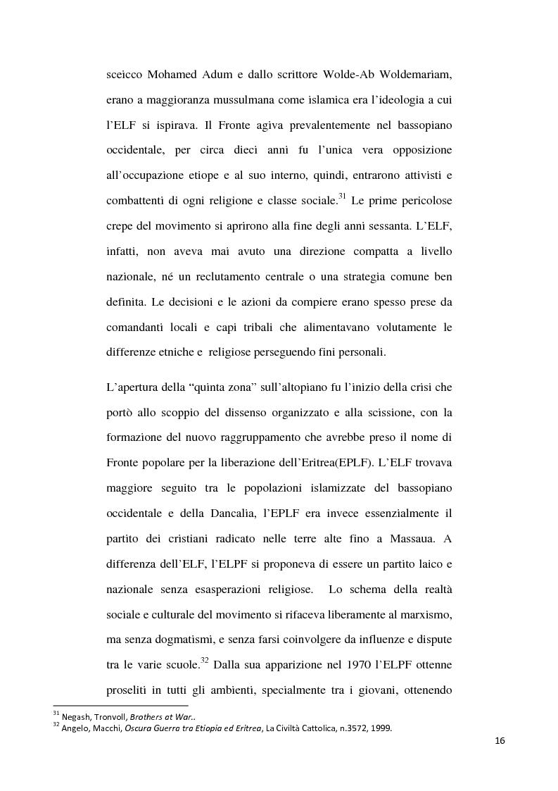Anteprima della tesi: L'internazionalizzazione di un conflitto regionale: Eritrea-Etiopia, Pagina 12