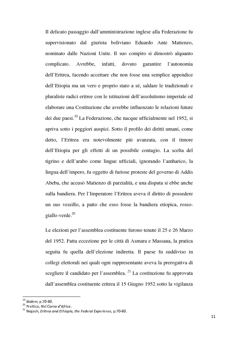 Anteprima della tesi: L'internazionalizzazione di un conflitto regionale: Eritrea-Etiopia, Pagina 7