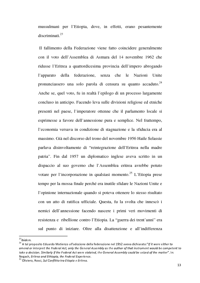Anteprima della tesi: L'internazionalizzazione di un conflitto regionale: Eritrea-Etiopia, Pagina 9