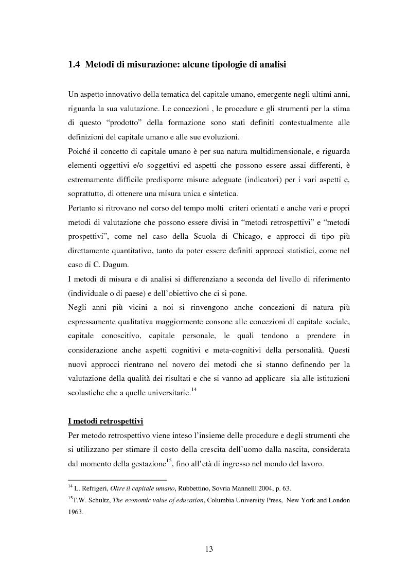 Anteprima della tesi: L'investimento nel capitale umano e il ruolo dell'istruzione: aspetti micro e macro, Pagina 11