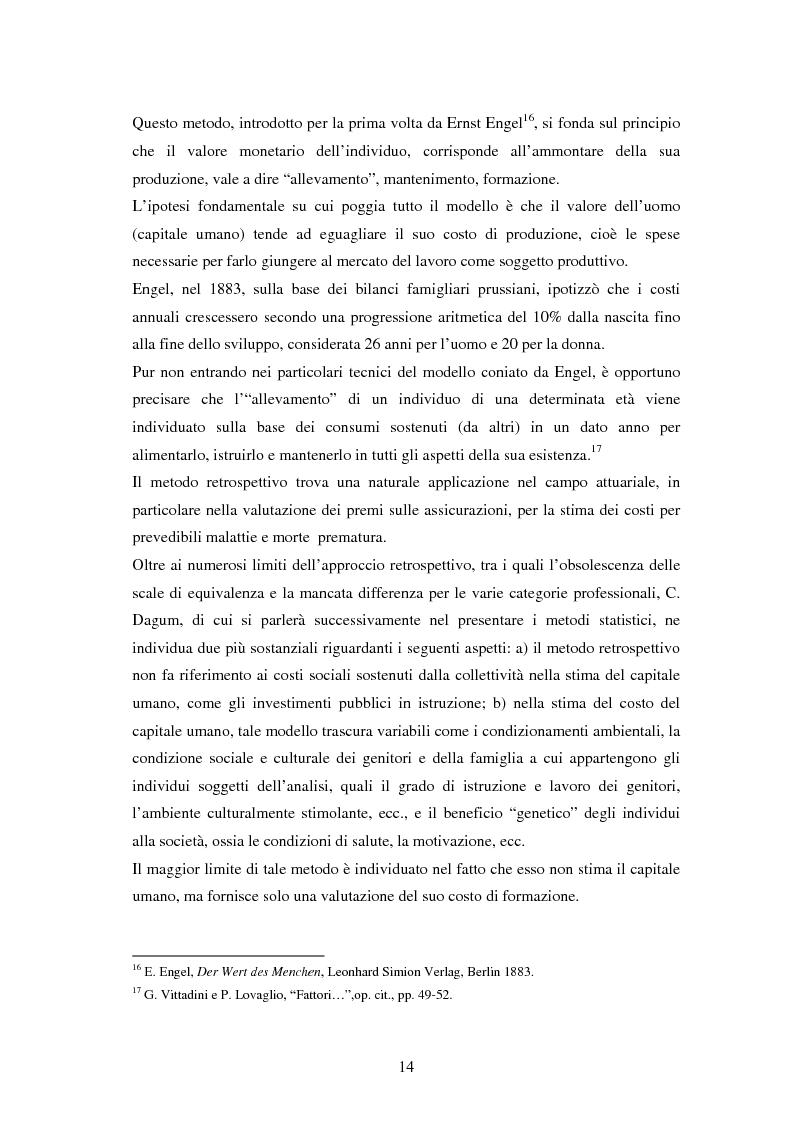 Anteprima della tesi: L'investimento nel capitale umano e il ruolo dell'istruzione: aspetti micro e macro, Pagina 12