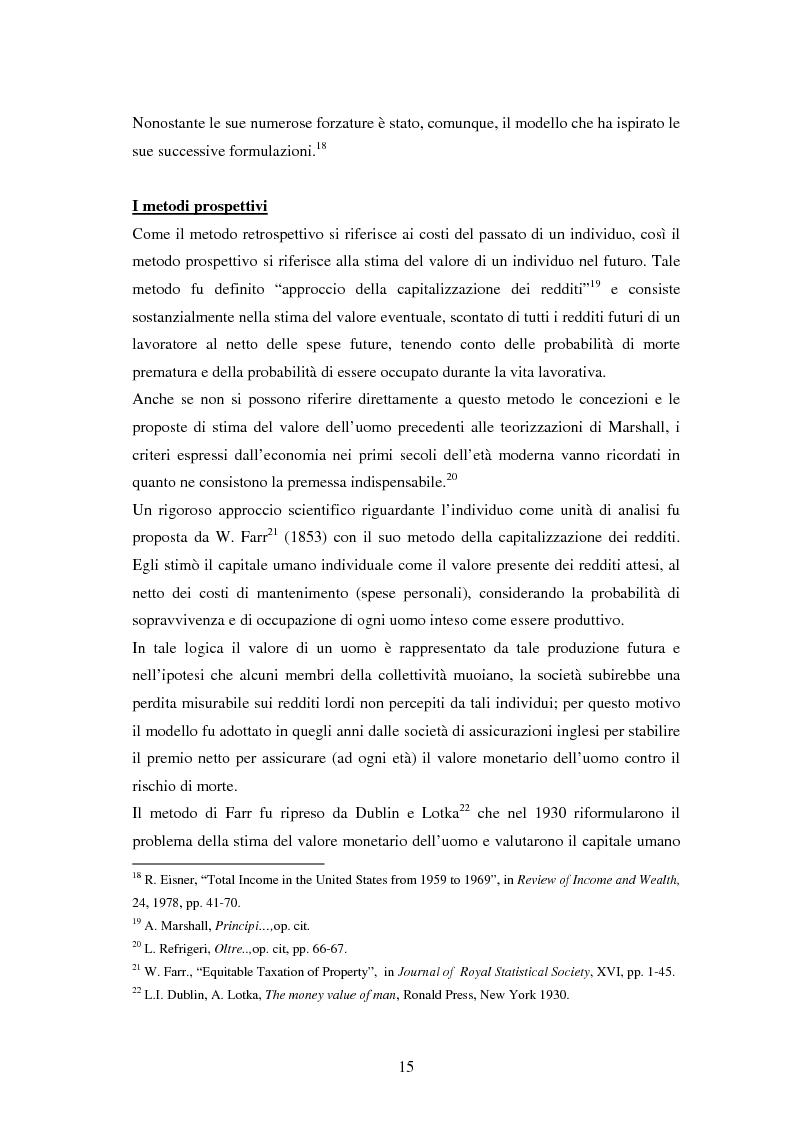 Anteprima della tesi: L'investimento nel capitale umano e il ruolo dell'istruzione: aspetti micro e macro, Pagina 13