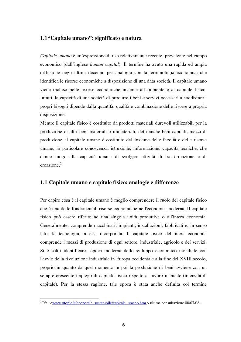 Anteprima della tesi: L'investimento nel capitale umano e il ruolo dell'istruzione: aspetti micro e macro, Pagina 4
