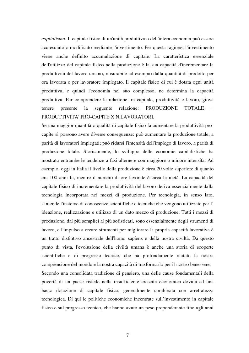 Anteprima della tesi: L'investimento nel capitale umano e il ruolo dell'istruzione: aspetti micro e macro, Pagina 5