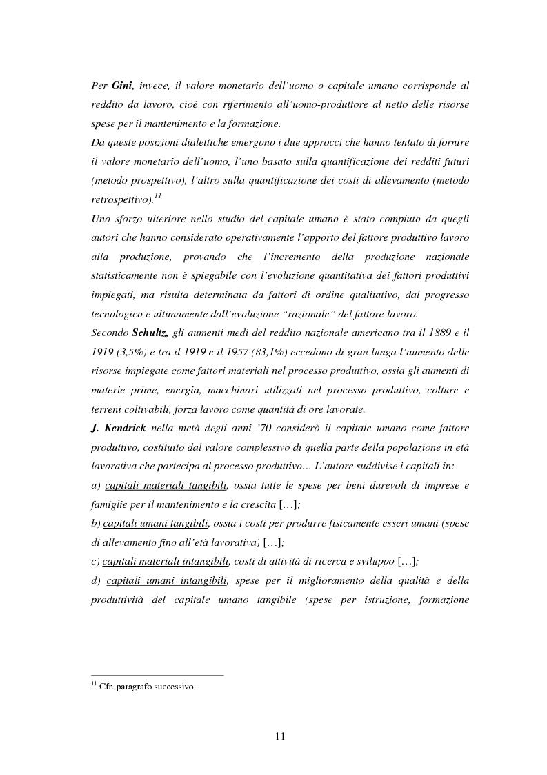 Anteprima della tesi: L'investimento nel capitale umano e il ruolo dell'istruzione: aspetti micro e macro, Pagina 9