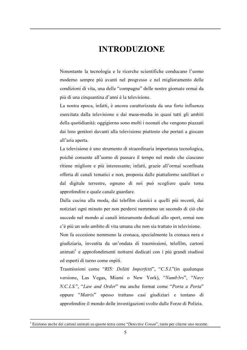 Anteprima della tesi: Le indagini tese al riconoscimento di autore di reato tramite immagini, Pagina 1
