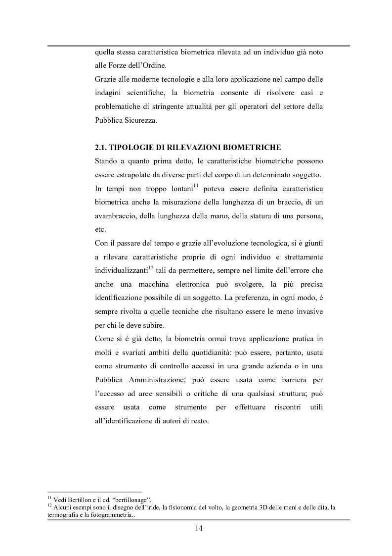 Anteprima della tesi: Le indagini tese al riconoscimento di autore di reato tramite immagini, Pagina 10