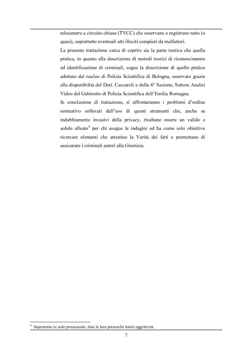 Anteprima della tesi: Le indagini tese al riconoscimento di autore di reato tramite immagini, Pagina 3