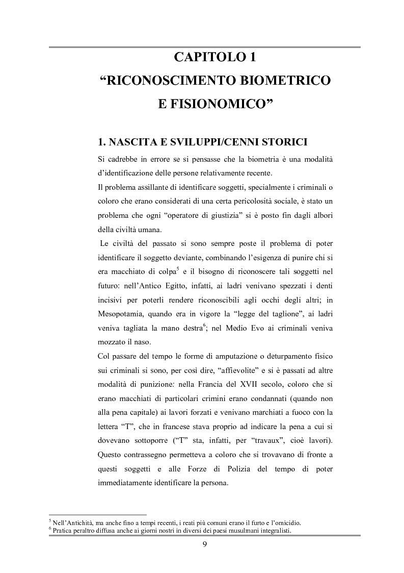 Anteprima della tesi: Le indagini tese al riconoscimento di autore di reato tramite immagini, Pagina 5