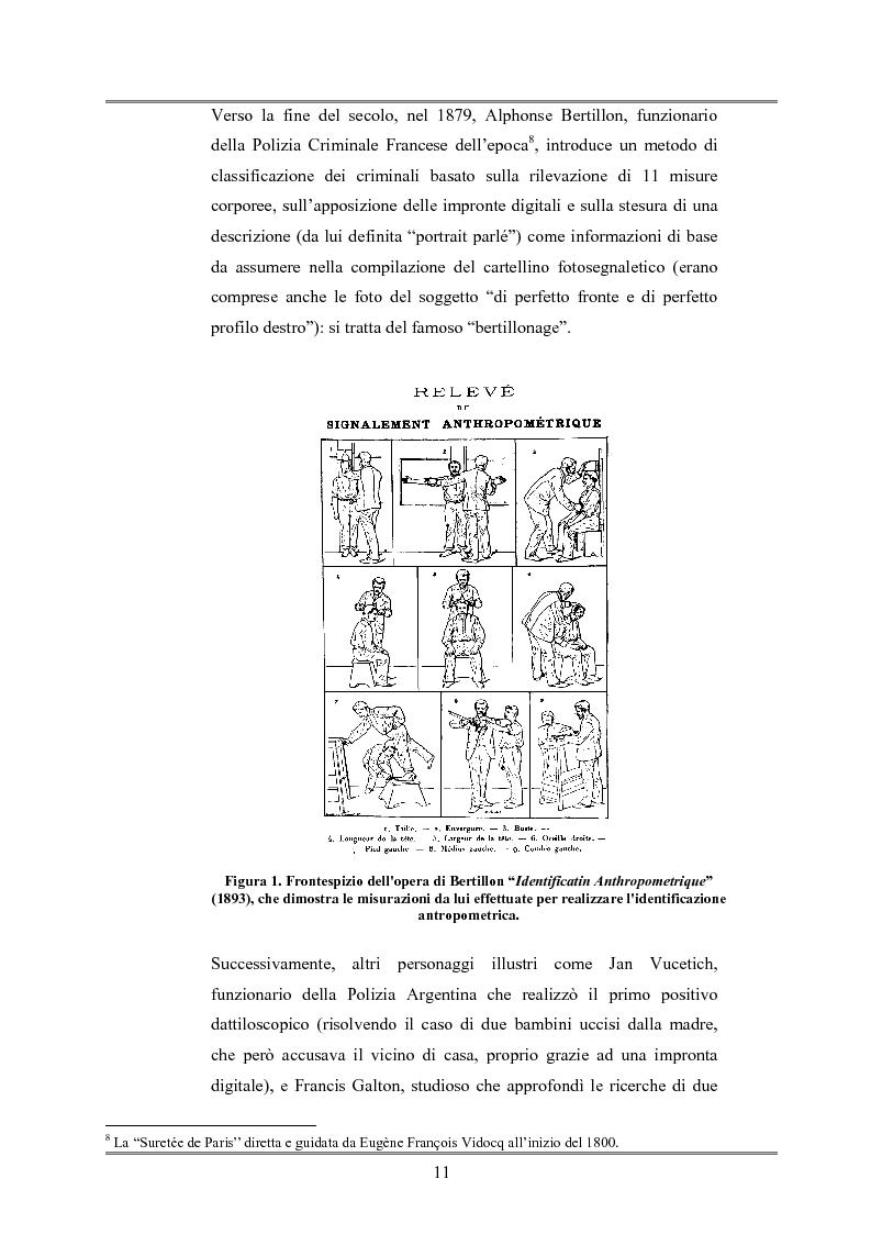 Anteprima della tesi: Le indagini tese al riconoscimento di autore di reato tramite immagini, Pagina 7