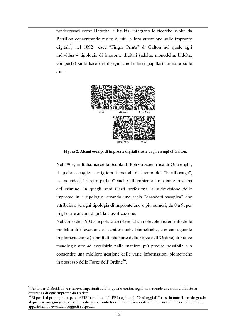 Anteprima della tesi: Le indagini tese al riconoscimento di autore di reato tramite immagini, Pagina 8