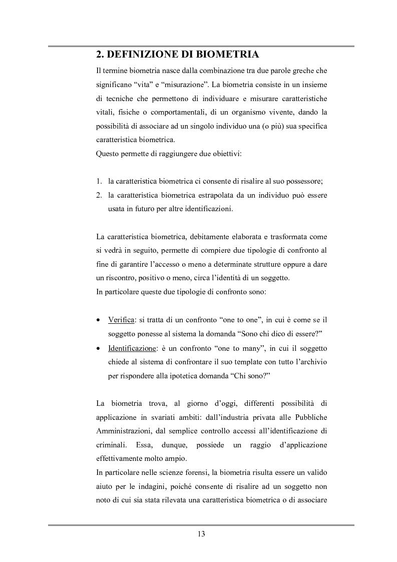 Anteprima della tesi: Le indagini tese al riconoscimento di autore di reato tramite immagini, Pagina 9