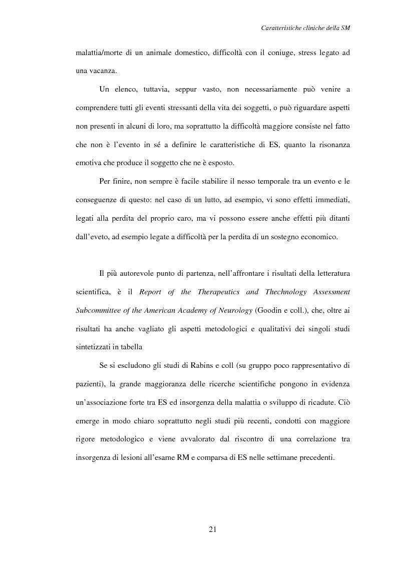 Anteprima della tesi: Aspetti psicosociali nei pazienti affetti da sclerosi multipla - Ruolo dei caregivers e dei supporti esterni. Trattamenti integrati per migliorare la qualità della vita, Pagina 12