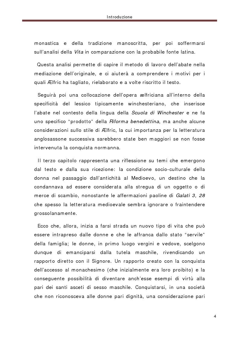 Anteprima della tesi: La ''Vita di santa Eugenia'' nel contesto anglosassone, Pagina 3