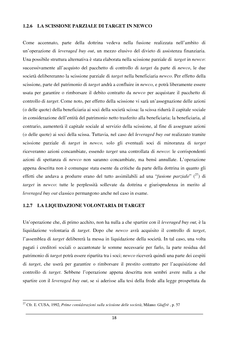 Anteprima della tesi: Il merger leveraged buy out - L'art. 2501 bis nella riforma del diritto societario, Pagina 10
