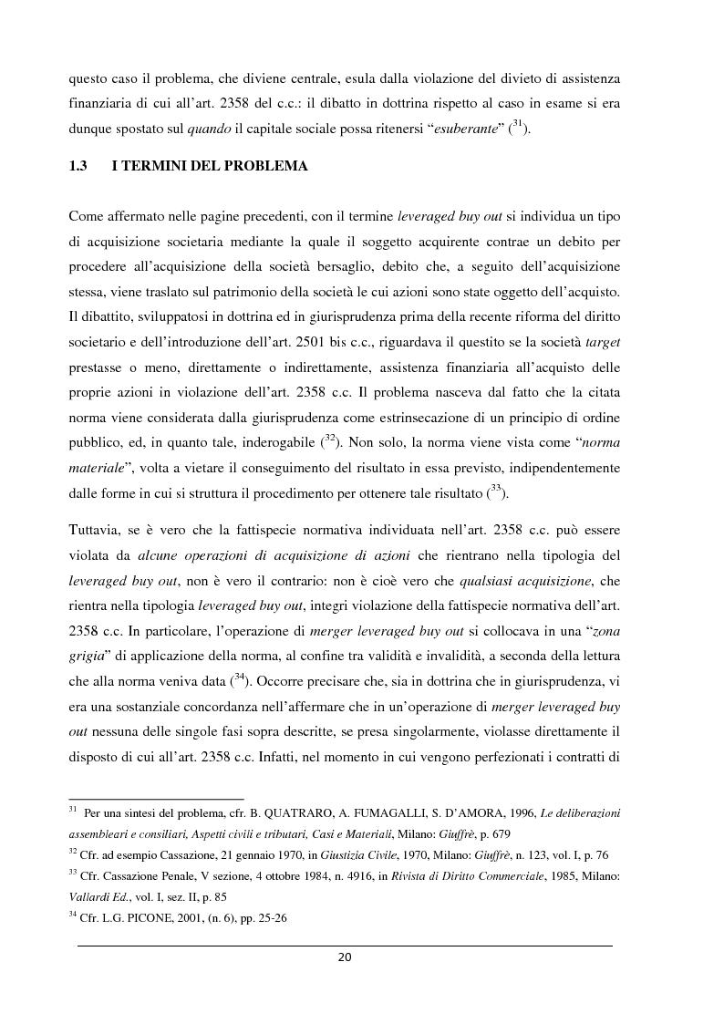 Anteprima della tesi: Il merger leveraged buy out - L'art. 2501 bis nella riforma del diritto societario, Pagina 12