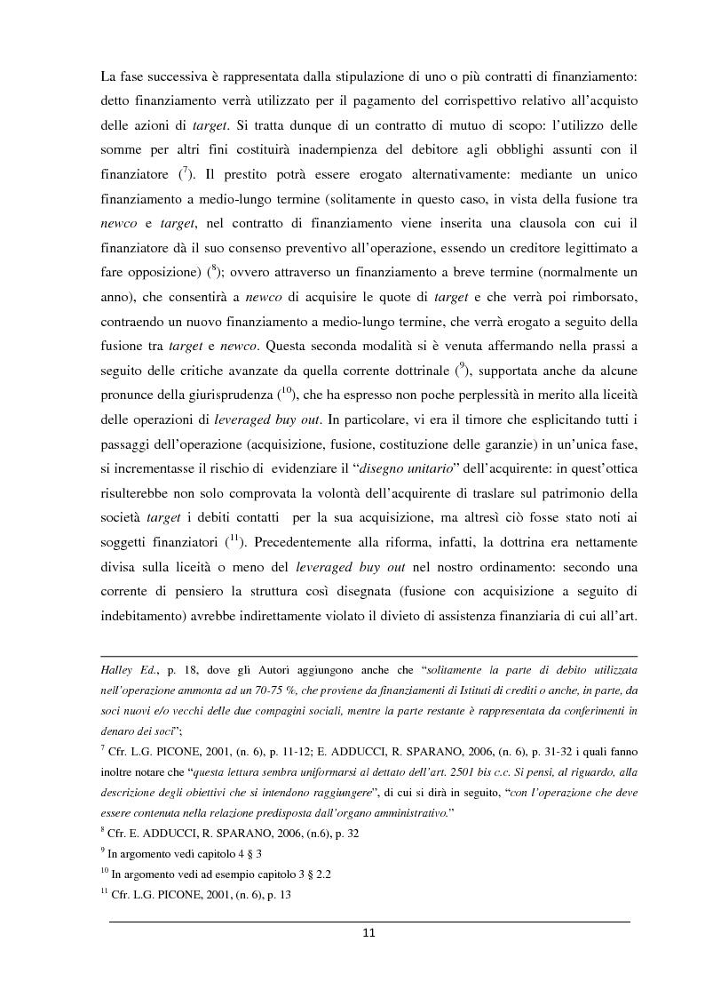 Anteprima della tesi: Il merger leveraged buy out - L'art. 2501 bis nella riforma del diritto societario, Pagina 3